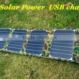 Factory Supply Solar Charger 20W Solar Panel Solar Energy Solar Folding Bag For IPAD Phone USB Charger