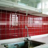 10x10 red glitter crystal clear glass mosaic tile for kitchen                                                                                         Most Popular