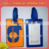 Custom stylish personalized 3d soft pvc luggage tag labels