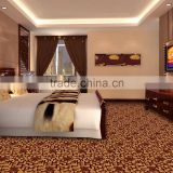 10% Wool 90% Polyester wilton wall to wall carpet for hotel