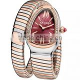 Serpentine Watches Silver and Gold Two-tone Bangle Watch Stainless Steel