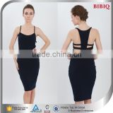 2015 Wholesale High Quality Backless Black Celebrity Bandage Dress