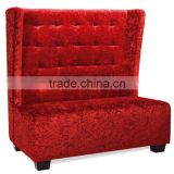 hotel chair /christmas promotional sofa/ resturant sofa / high back red love seat sofa chair / hotel lobby high back chair HS36
