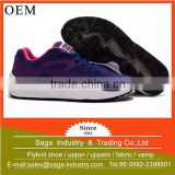 2016 most popular trendy young fashion breathable cheap women flyknit running shoes uppers