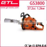 37.2cc air cooled 2 stroke petrol chain saw with CE/GS/EURO II GS3800