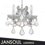 2015 country style vintage hot selling art deco light fixtures top k9 crystal chandelier wall sconce for weddings