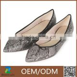 snake pattern print ballet shoes flat shoes dance shoes