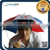 Custom Made Logo Printed Umbrella Hat Shape Head Umbrella