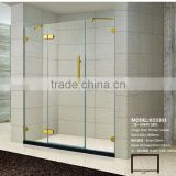 2 Fixed Bracket Door Pivot Hinge Glass Bath Shower Screens(KD3303)