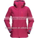 Hooded lightweight women's outdoor rain jacket