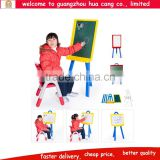 Multi-functional plastic children white writing board stand , movable magnetic drawing whiteboard for kids