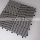 Yuante new design interlocking wood plastic composite / DIY WPC decking with plastic base