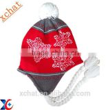 Winter snow knitted 100% acrylic ear hat