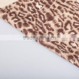 100% polyester Animal skin print velboa textile fabric leopard print sofa cover textile animal printing fabric