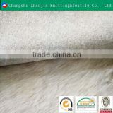 Changshu Zhaojia knitting wholesale customized 100% polyester fake fur fabric for garment