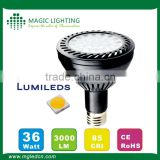Magic Lighting Hot Selling PAR30 35W daylight fan kit dimmable Led flush mount ceiling Light