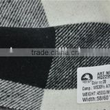 Hot sell high quality cashmere blend acrylic black white plaid fabric for coats
