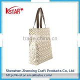 Fashion No minimum eco Reusable tote customized pvc bag