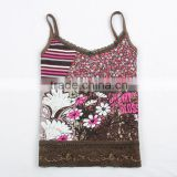 (N2651) 4y-8y little girls summer cool wear sleeveless knitted vest patterns children sun-top