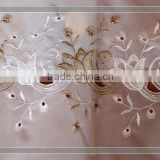 [ready made]XH-34 15 years top-rated golden seller newest 100% polyester embroidered fabric