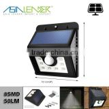 Light Outdoor Solar Security Light for Garden Patio Bright 8 LED Solar Motion Sensor lights