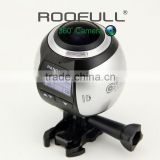 Hot new products 8MP 360 degree Panoramic HD Action Camera waterproof