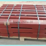High manganese steel fixed jaw plate / movable jaw plate for crusher