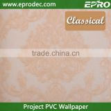 Anti-static colors customized vinyl project wall paper for hotel decoration
