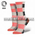 Cotton Colorful Jacquard Wide Stripe Print Fuzzy Custom Sport Sock Crazy Socks Womens Socks