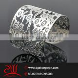 Latest womens hand made jewelry stainless steel wide metal cuff bracelet                                                                         Quality Choice