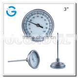 3Inch all stainless steel hermetically sealed external calibrator bimetal thermometer for outlet solar collector