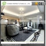 Zebra Black And White Marble Flooring With 600*300mm marble