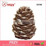 S3168 Pine cone 3D soap mold Food-grade silicone molds mold for soap Christmas mold mold New year mold