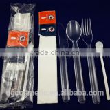 Hot New Products for 2015 Airline Disposable Plastic Cutlery Set With Napkin