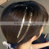 New fashion gold and silver temporary hair tattoo sticker metallic hair and body tattoo factory