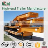 50tons Tire Uncovered Type Low Boy Trailer With Mechanical Ladders,Low Bed Truck Trailer Price (hydraulic Ladders Are Optional)