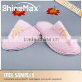 Wholesale Star High Quality Hotel Coral Slippers soft sole indoor slippers Hotel Amenities Factory