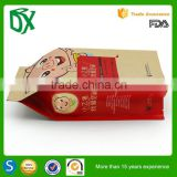 Express alibaba heat seal kraft paper packaging bags side gusset for farmers of dried fruit packaging