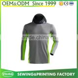 Hot sale men breathable fabric long sleeves sport t shirt men's quick dry sport t-shirts