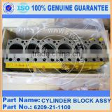 Japan brand wheel loader WA250-3 SA6D95L engine part of cylinder block assembly 6209-21-1100