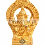 Handmade Beautiful Back Design Brass Ganesh Ji God for Hinduism Religious Home Decorative Temple Puja Gift Item