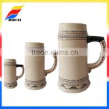 Newest design custom oktoberfest ceramic stein beer mugs german with handles for table decoration