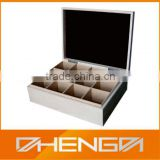 Custom Made Good Quality White Wooden Tea Box
