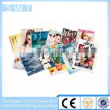 Glossy laminated saddle stitch binding custom catalog/catalogue printing