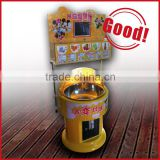 DIY cotton candy vending Coin-operated children cotton candy vending machine amusement park snack cotton suger game machine