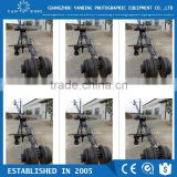 Broadcasting camera video triangle jimmy jib crane with monitor and motorized 2axis head loading 25kg