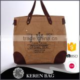 Famous Brand Useful Print Pattern fashion shopping handbag kraft paper bag environmental washable bag for small qty