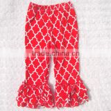 Baby girl new style ruffle pants icing pants for child cotton fabric mulitcolor for choice in stock