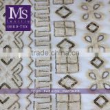 wholesale gold sequin embroidery sequin net fabric