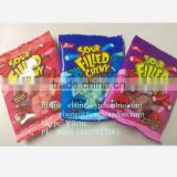 22g fruit flavor center filled chewy soft sour candy